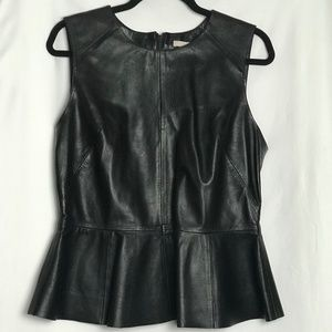 H&M Leather top that flares out at the hip.